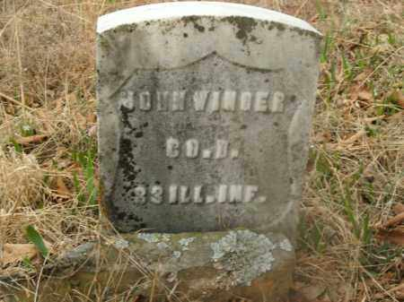 WINGER  (VETERAN UNION), JOHN - Boone County, Arkansas | JOHN WINGER  (VETERAN UNION) - Arkansas Gravestone Photos