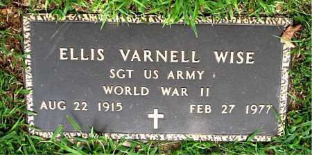 WISE  (VETERAN WWII), ELLIS   VARNELL - Boone County, Arkansas | ELLIS   VARNELL WISE  (VETERAN WWII) - Arkansas Gravestone Photos