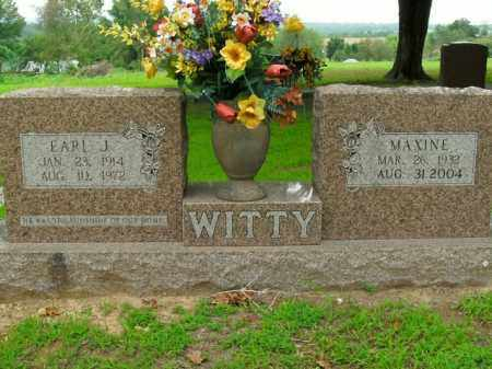 WITTY, EARL J. - Boone County, Arkansas | EARL J. WITTY - Arkansas Gravestone Photos