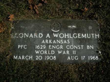 WOHLGEMUTH  (VETERAN WWII), LEONARD A - Boone County, Arkansas | LEONARD A WOHLGEMUTH  (VETERAN WWII) - Arkansas Gravestone Photos