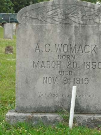 WOMACK, A.C. - Boone County, Arkansas | A.C. WOMACK - Arkansas Gravestone Photos