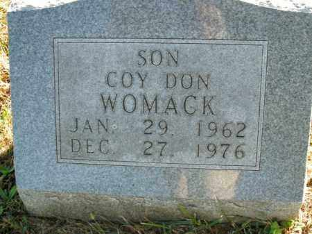WOMACK, COY DON - Boone County, Arkansas | COY DON WOMACK - Arkansas Gravestone Photos