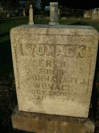 WOMACK, FRED - Boone County, Arkansas | FRED WOMACK - Arkansas Gravestone Photos