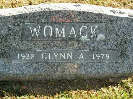WOMACK, GLYNN A. - Boone County, Arkansas | GLYNN A. WOMACK - Arkansas Gravestone Photos
