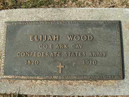 WOOD  (VETERAN CSA), ELIJAH - Boone County, Arkansas | ELIJAH WOOD  (VETERAN CSA) - Arkansas Gravestone Photos