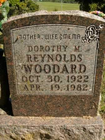 REYNOLDS WOODARD, DOROTHY M. - Boone County, Arkansas | DOROTHY M. REYNOLDS WOODARD - Arkansas Gravestone Photos