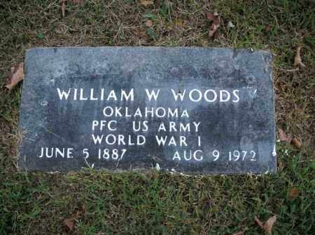 WOODS  (VETERAN WWI), WILLIAM W - Boone County, Arkansas | WILLIAM W WOODS  (VETERAN WWI) - Arkansas Gravestone Photos