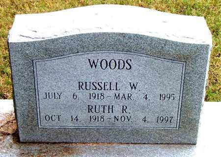 WOODS, RUSSELL W - Boone County, Arkansas | RUSSELL W WOODS - Arkansas Gravestone Photos
