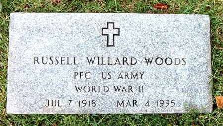 WOODS  (VETERAN WWII), RUSSELL WILLARD - Boone County, Arkansas | RUSSELL WILLARD WOODS  (VETERAN WWII) - Arkansas Gravestone Photos