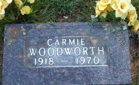 WOODWORTH, CARMIE - Boone County, Arkansas | CARMIE WOODWORTH - Arkansas Gravestone Photos