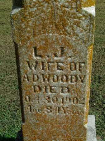 WOODY, L.J. - Boone County, Arkansas | L.J. WOODY - Arkansas Gravestone Photos