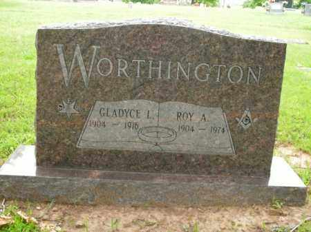 WORTHINGTON, GLADYCE L. - Boone County, Arkansas | GLADYCE L. WORTHINGTON - Arkansas Gravestone Photos