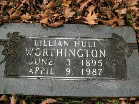 HULL WORTHINGTON, LILLIAN - Boone County, Arkansas | LILLIAN HULL WORTHINGTON - Arkansas Gravestone Photos