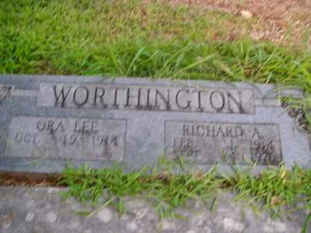 WORTHINGTON, RICHARD A. - Boone County, Arkansas | RICHARD A. WORTHINGTON - Arkansas Gravestone Photos