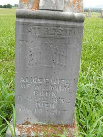 WRAY, ALICE E. - Boone County, Arkansas | ALICE E. WRAY - Arkansas Gravestone Photos