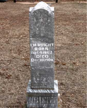 WRIGHT, I.  W. - Boone County, Arkansas | I.  W. WRIGHT - Arkansas Gravestone Photos