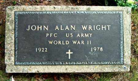 WRIGHT  (VETERAN WWII), JOHN ALAN - Boone County, Arkansas | JOHN ALAN WRIGHT  (VETERAN WWII) - Arkansas Gravestone Photos