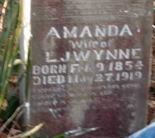 WYNNE, AMANDA - Boone County, Arkansas | AMANDA WYNNE - Arkansas Gravestone Photos