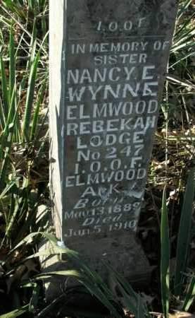 WYNNE, NANCY E. - Boone County, Arkansas | NANCY E. WYNNE - Arkansas Gravestone Photos
