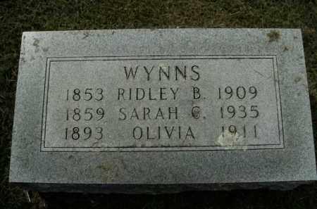 WYNNS, RIDLEY B. - Boone County, Arkansas | RIDLEY B. WYNNS - Arkansas Gravestone Photos