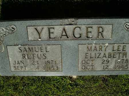 YEAGER, MARY LEE ELIZABETH - Boone County, Arkansas | MARY LEE ELIZABETH YEAGER - Arkansas Gravestone Photos