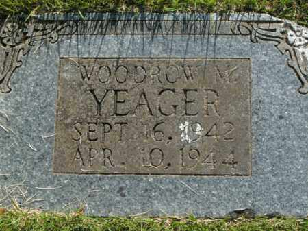 YEAGER, WOODROW M. - Boone County, Arkansas | WOODROW M. YEAGER - Arkansas Gravestone Photos