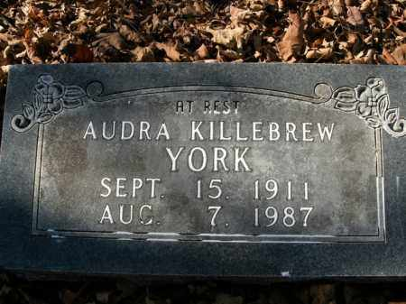 YORK, AUDRA - Boone County, Arkansas | AUDRA YORK - Arkansas Gravestone Photos