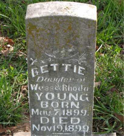 YOUNG, BETTIE - Boone County, Arkansas | BETTIE YOUNG - Arkansas Gravestone Photos