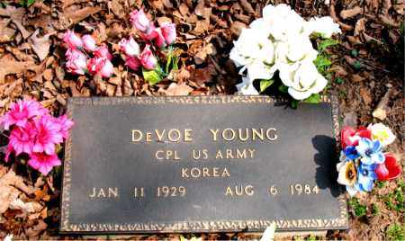 YOUNG  (VETERAN KOR), DEVOE - Boone County, Arkansas | DEVOE YOUNG  (VETERAN KOR) - Arkansas Gravestone Photos
