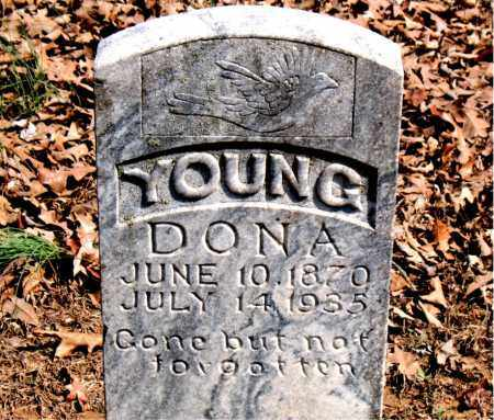 YOUNG, DONA - Boone County, Arkansas | DONA YOUNG - Arkansas Gravestone Photos