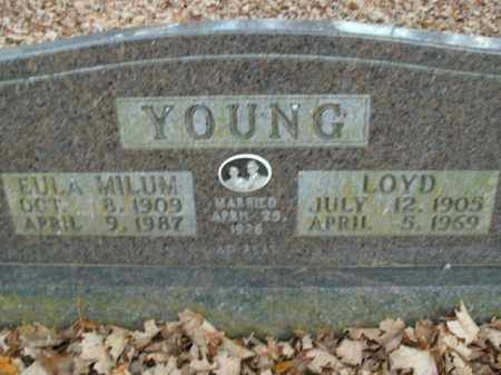 MILUM YOUNG, EULA - Boone County, Arkansas | EULA MILUM YOUNG - Arkansas Gravestone Photos