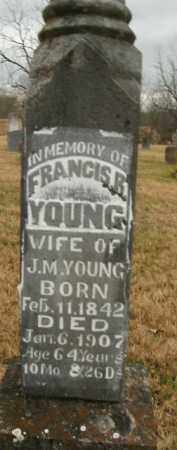 YOUNG, FRANCIS RUBY - Boone County, Arkansas | FRANCIS RUBY YOUNG - Arkansas Gravestone Photos