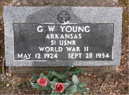 YOUNG  (VETERAN WWII), G. W - Boone County, Arkansas | G. W YOUNG  (VETERAN WWII) - Arkansas Gravestone Photos