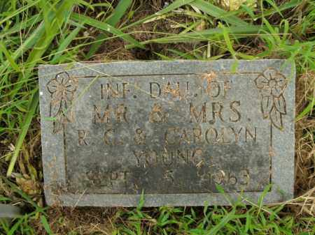 YOUNG, INFANT DAUGHTER - Boone County, Arkansas | INFANT DAUGHTER YOUNG - Arkansas Gravestone Photos