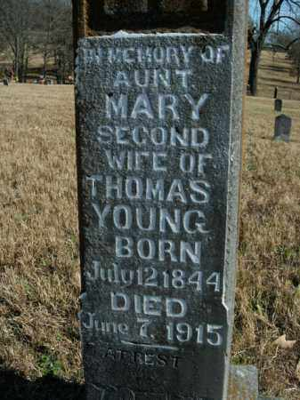 YOUNG, MARY - Boone County, Arkansas | MARY YOUNG - Arkansas Gravestone Photos