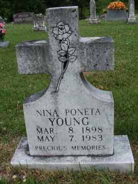 YOUNG, NINA PONETA - Boone County, Arkansas | NINA PONETA YOUNG - Arkansas Gravestone Photos