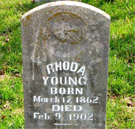 YOUNG, RHODA LAVINA - Boone County, Arkansas | RHODA LAVINA YOUNG - Arkansas Gravestone Photos