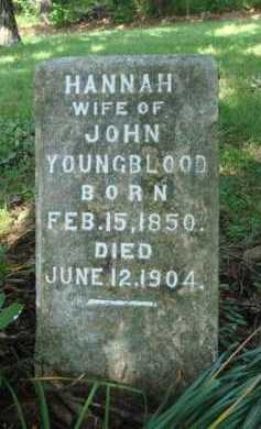 YOUNGBLOOD, HANNAH - Boone County, Arkansas | HANNAH YOUNGBLOOD - Arkansas Gravestone Photos