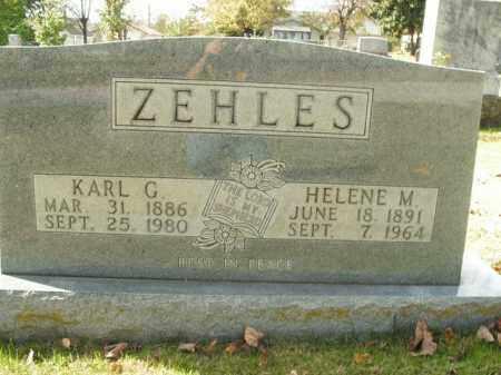 ZEHLES, KARL G. - Boone County, Arkansas | KARL G. ZEHLES - Arkansas Gravestone Photos