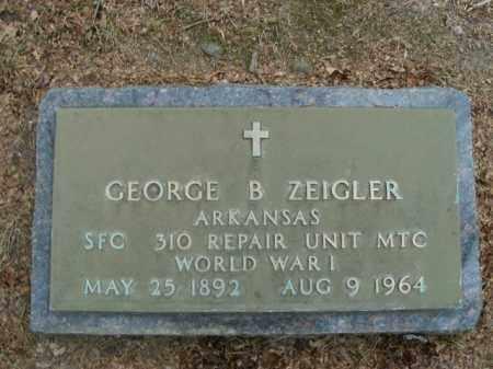 ZEIGLER  (VETERAN WWI), GEORGE B - Boone County, Arkansas | GEORGE B ZEIGLER  (VETERAN WWI) - Arkansas Gravestone Photos