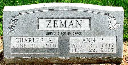 ZEMAN, ANN PATTER - Boone County, Arkansas | ANN PATTER ZEMAN - Arkansas Gravestone Photos