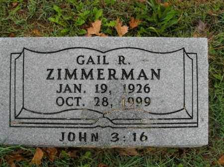 ZIMMERMAN, GAIL R. - Boone County, Arkansas | GAIL R. ZIMMERMAN - Arkansas Gravestone Photos