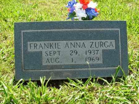 ZURGA, FRANKIE ANNA - Boone County, Arkansas | FRANKIE ANNA ZURGA - Arkansas Gravestone Photos