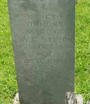 TIMMONS BYROM, NANCY - Bradley County, Arkansas | NANCY TIMMONS BYROM - Arkansas Gravestone Photos