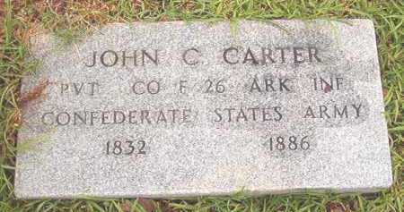 CARTER (VETERAN CSA), JOHN C - Bradley County, Arkansas | JOHN C CARTER (VETERAN CSA) - Arkansas Gravestone Photos
