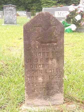 CROFT, GEORGE - Bradley County, Arkansas   GEORGE CROFT - Arkansas Gravestone Photos