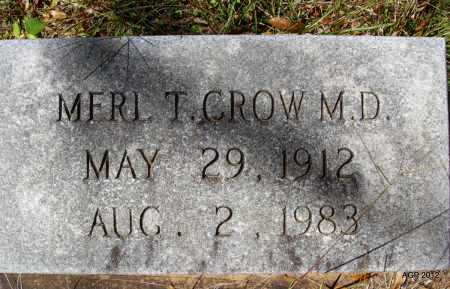 CROW DR, MERL THACKER - Bradley County, Arkansas | MERL THACKER CROW DR - Arkansas Gravestone Photos