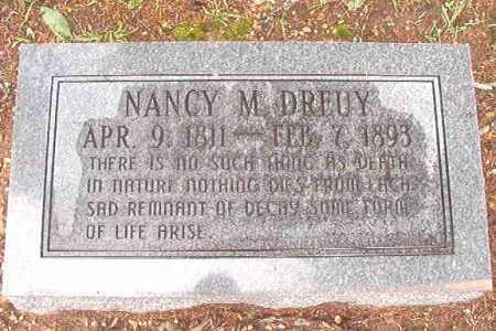 DREUY, NANCY M - Bradley County, Arkansas | NANCY M DREUY - Arkansas Gravestone Photos