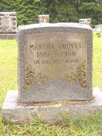 GROVES, MARTHA - Bradley County, Arkansas | MARTHA GROVES - Arkansas Gravestone Photos