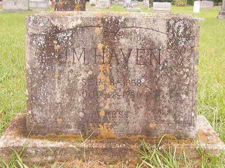 HAVEN, J M - Bradley County, Arkansas | J M HAVEN - Arkansas Gravestone Photos
